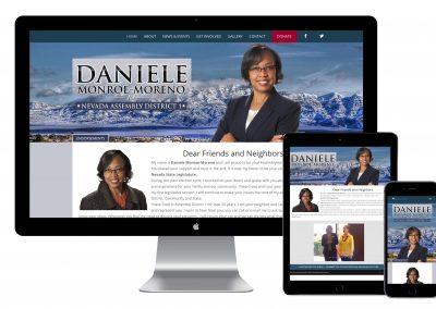 Candidate Website Daniele Monroe-Moreno