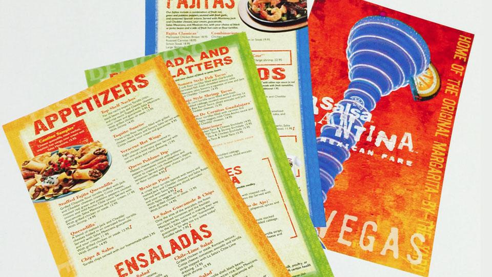 La Salsa Cantina Las Vegas Menu Design