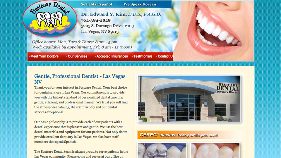 Bestcare Dental Las Vegas Website Development