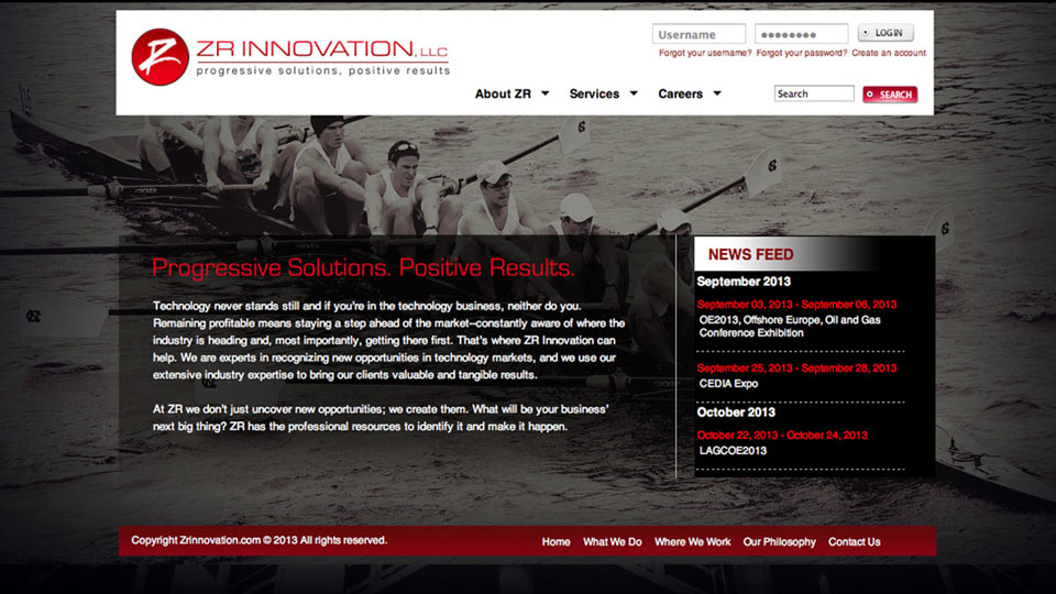 ZR Innovation Website Development