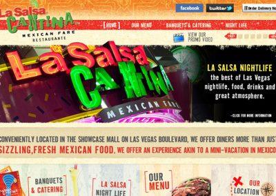 La Salsa Cantina Las Vegas Website Design