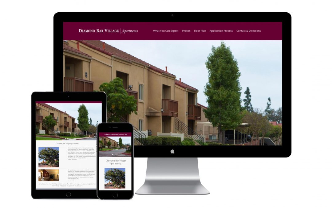 Diamond Bar Village Apartments Website Design