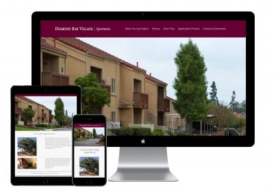 Diamond Bar Village Apartments Website Design