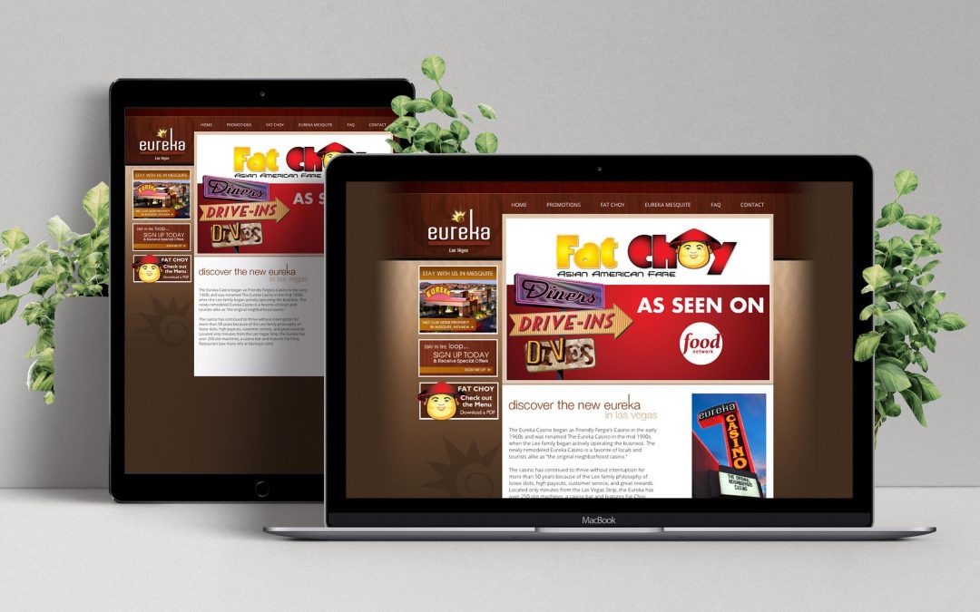 Eureka Casinos Website Development Project