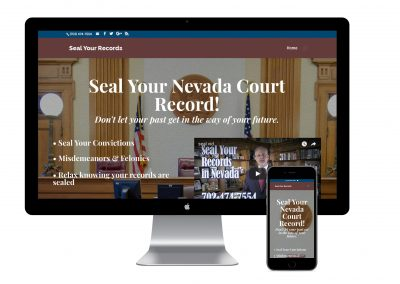 Seal Your Record Nevada Website Development